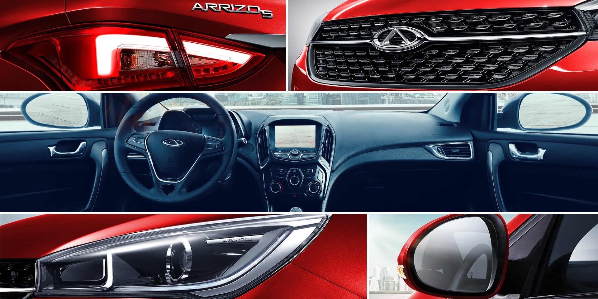 Chery Arrizo 5 Red color interior and exterior